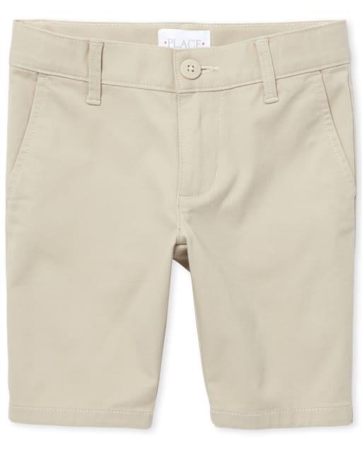 Pantalones cortos chinos tejidos de uniforme para niñas