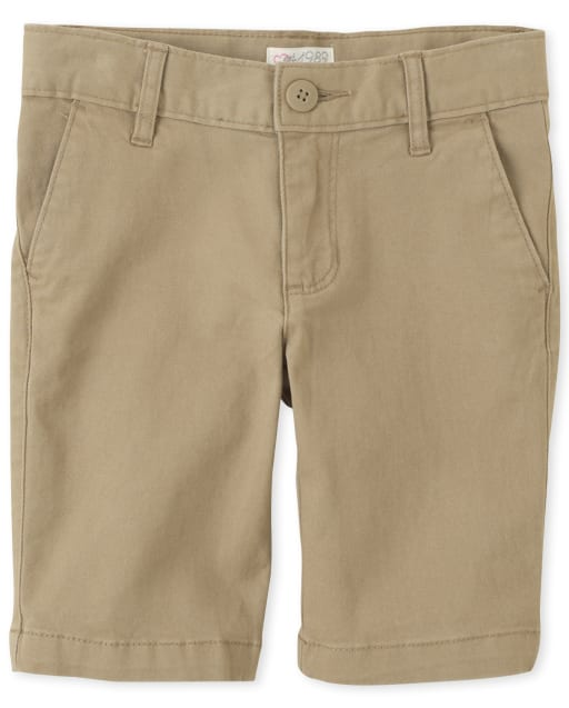 Shorts chinos tejidos uniformes para niñas