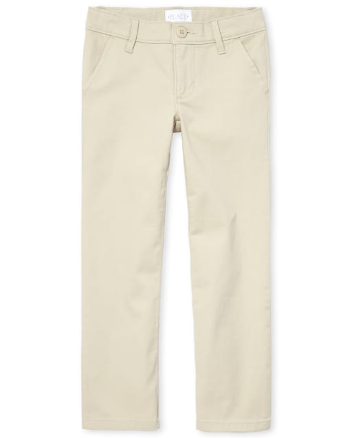 Girls Uniform Woven Bootcut Chino Pants