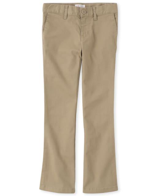 Girls Uniform Woven Bootcut Chino Pants