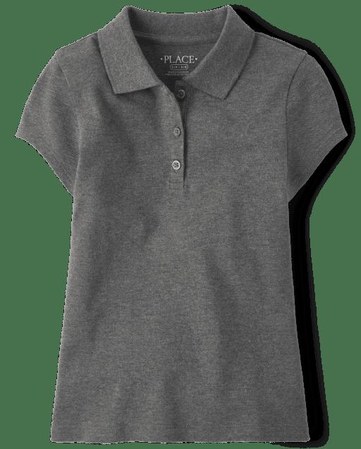 Polo de piqué de manga corta de uniforme para niñas