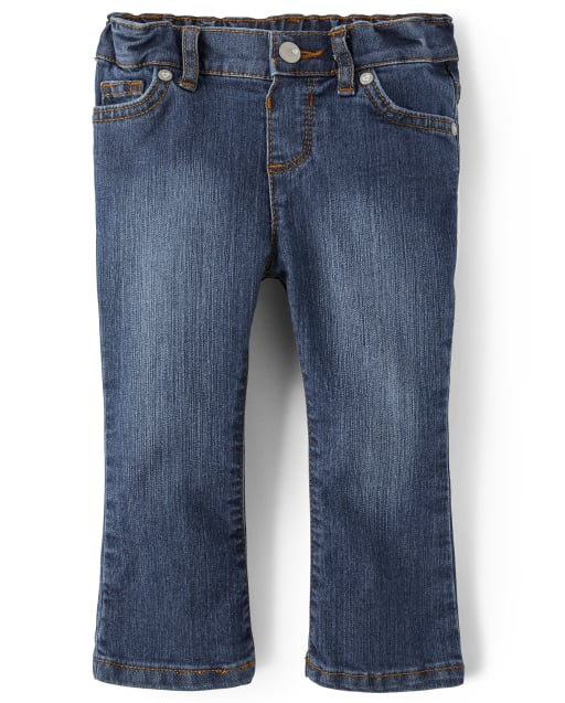 Baby And Toddler Girls Basic Stretch Bootcut Jeans