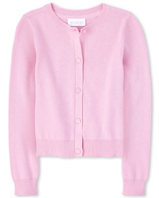 Girls Uniform Long Sleeve Cardigan