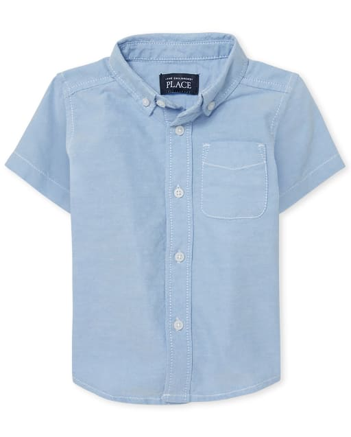 Baby And Toddler Boys Uniform Short Sleeve Oxford Button Down Shirt