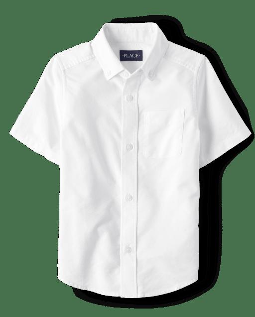 Camisa Oxford de manga corta con uniforme para niños