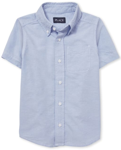 Boys Uniform Short Sleeve Oxford Button Down Shirt