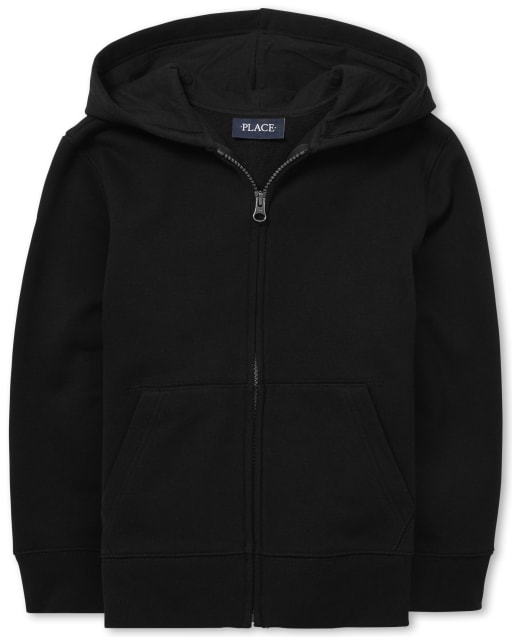 Boys Uniform Long Sleeve Zip Up Hoodie
