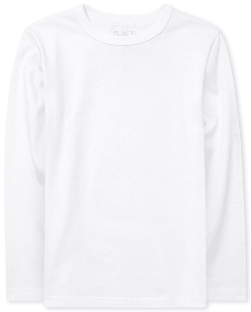 Boys Uniform Long Sleeve Basic Layering Tee