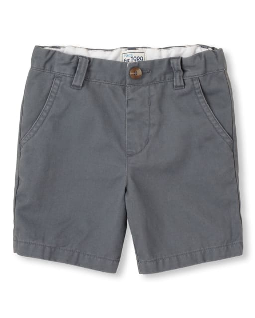 Toddler Boys Uniform Woven Chino Shorts