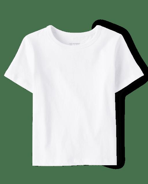 Camiseta básica de manga corta para bebés y niños pequeños, uniforme