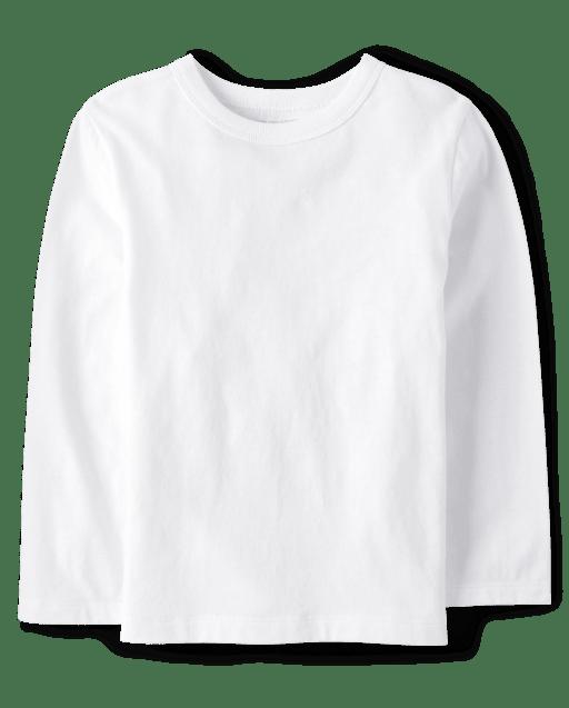 Camiseta básica de manga larga y uniforme para bebés y niños pequeños