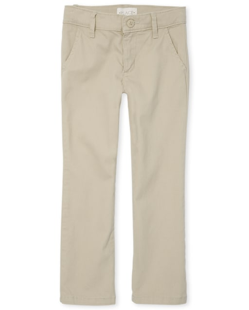 Girls Uniform Woven Skinny Chino Pants