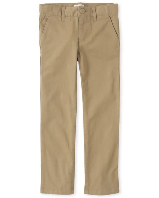Girls Uniform Woven Skinny Chino Pants