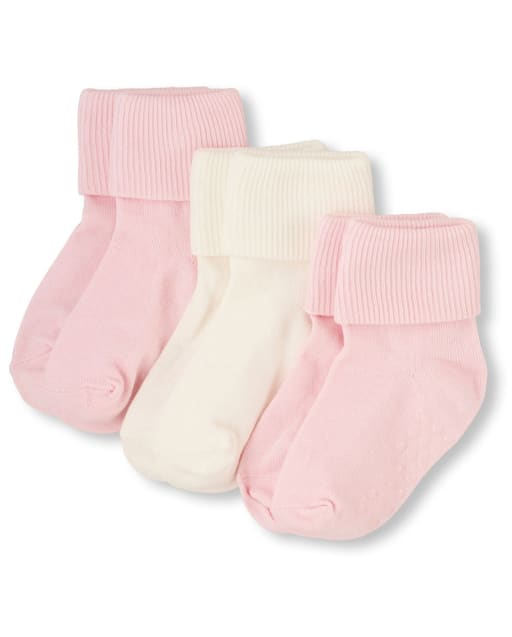 Unisex Baby And Toddler Triple Roll Socks 3-Pack