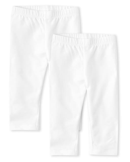 Toddler Girls Knit Capri Leggings 2-Pack