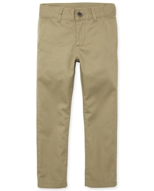 Pantalones chinos pitillo tejidos para niños