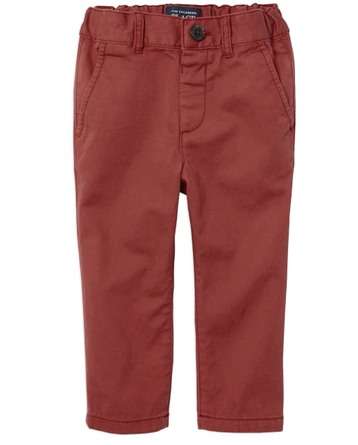 Baby And Toddler Boys Uniform Woven Skinny Chino Pants