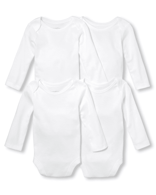 Body de bebé unisex, paquete de 4