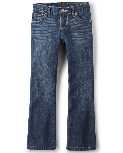 Girls Basic Bootcut Jeans