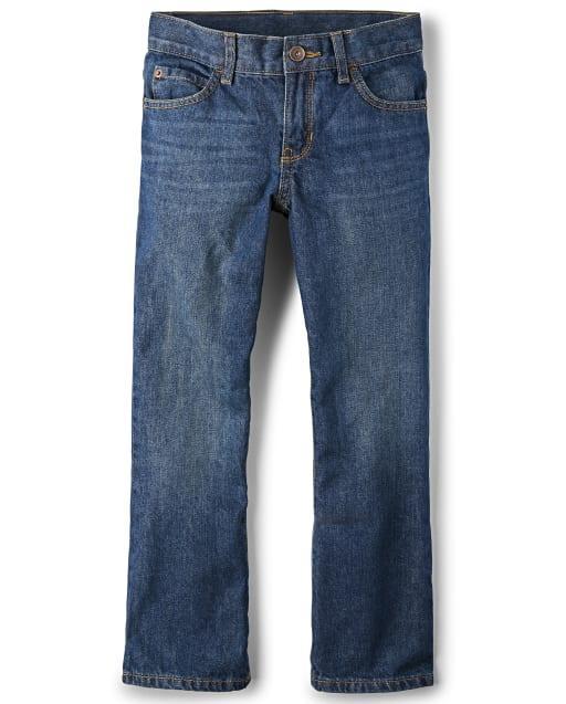 Boys Basic Bootcut Jeans - Dark Jupiter Wash