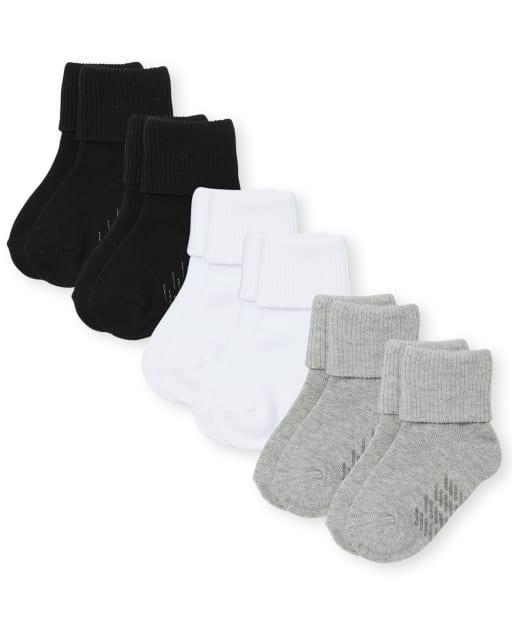 Pack de 6 pares de calcetines unisex para bebés y niños pequeños