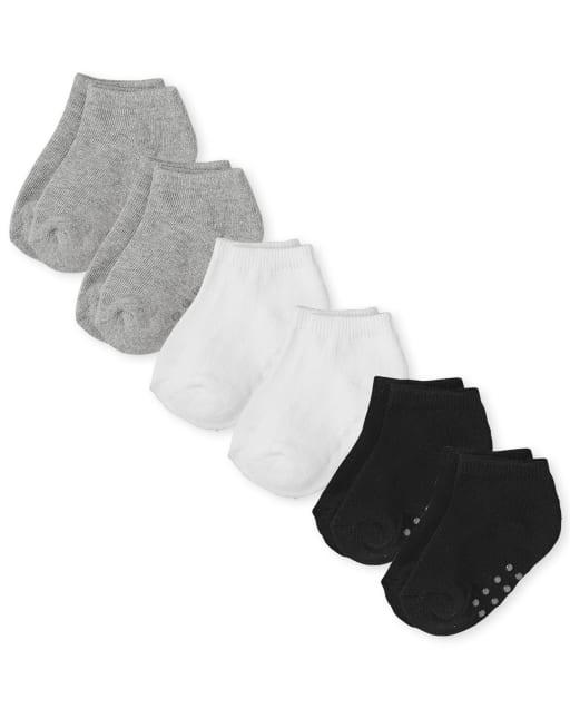 Calcetines tobilleros unisex para bebés y niños pequeños, paquete de 6