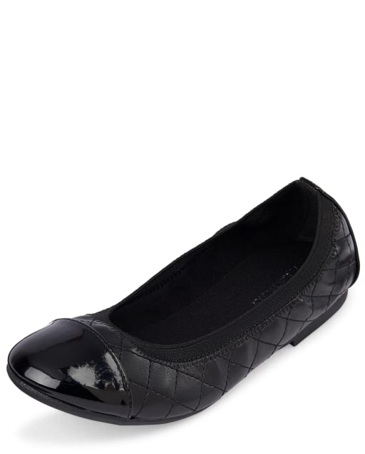 Girls Quilted Ballet Flats