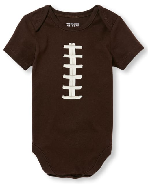 Baby Boys Short Sleeve Football Graphic Bodysuit Bodysuit