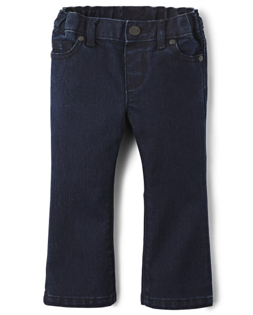 Baby And Toddler Girls Basic Bootcut Jeans - Blueberry Wash
