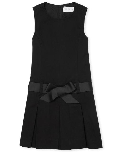 Jersey sin mangas con cinturón y cinta sin mangas para niñas