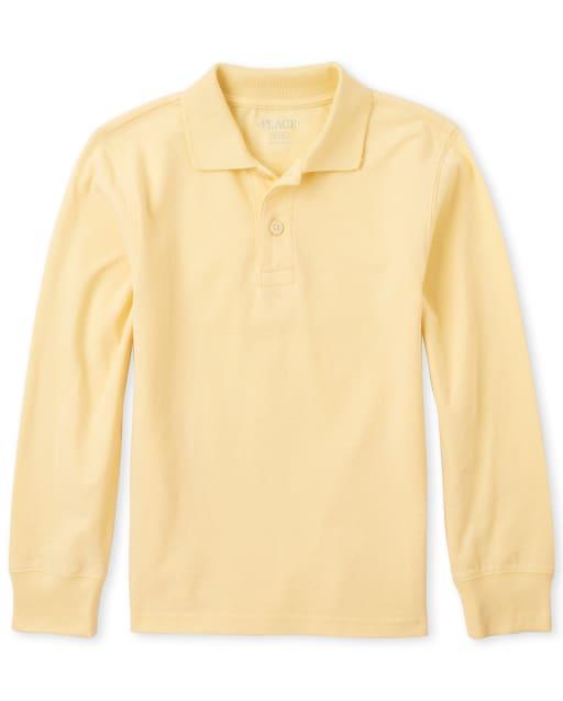 Essentials Boys Short-Sleeve Uniform Pique Polo