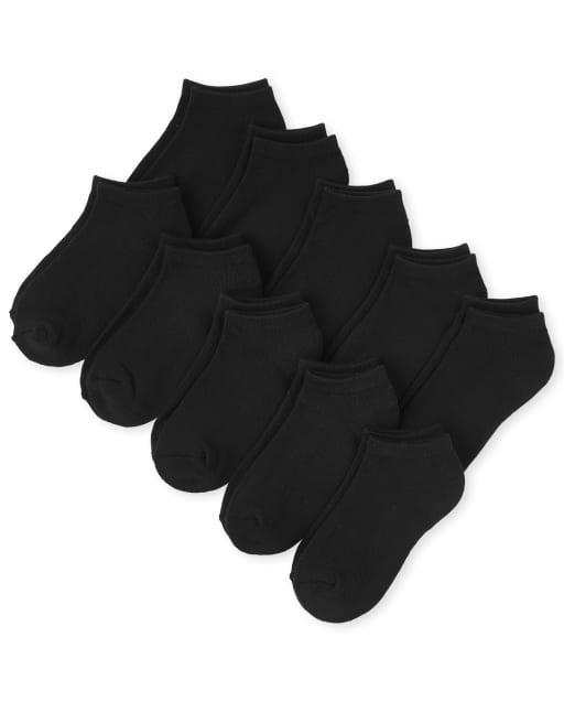 Calcetines tobilleros unisex para niños, paquete de 10