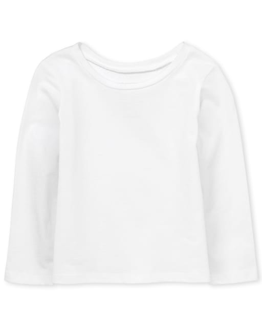 Baby And Toddler Girls Long Sleeve Basic Layering Tee