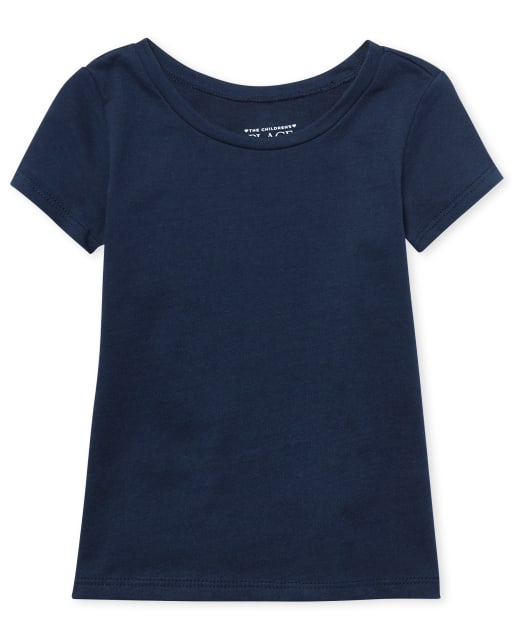 Baby And Toddler Girls Short Sleeve Basic Layering Tee