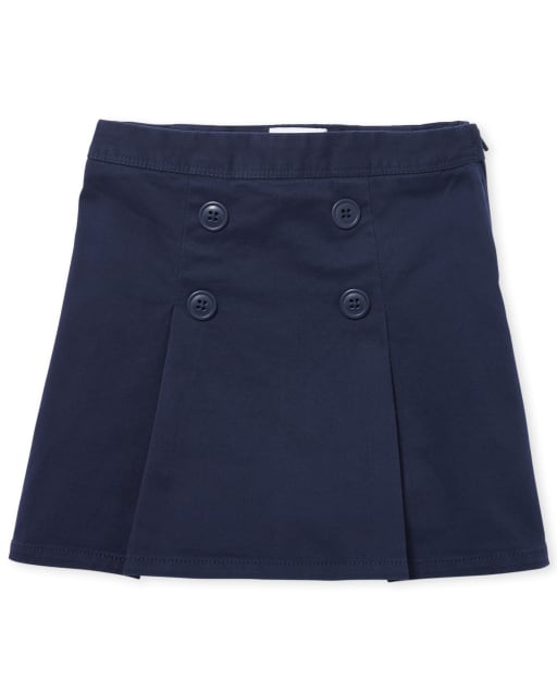 Girls Uniform Woven Button Skort