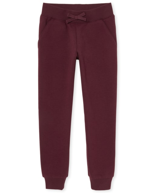 Girls Uniform Active French Terry Jogger Pants