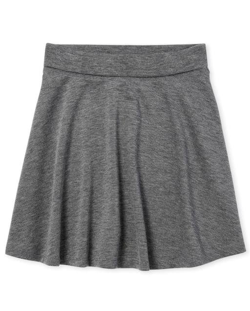 Girls Uniform Ponte Knit Skort