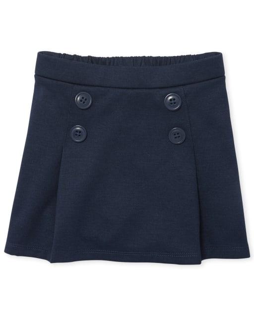 Falda pantalón de punto con botones de Ponte de uniforme para niñas pequeñas