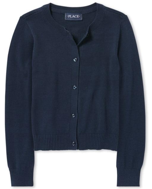 Girls Uniform Long Sleeve Cardigan
