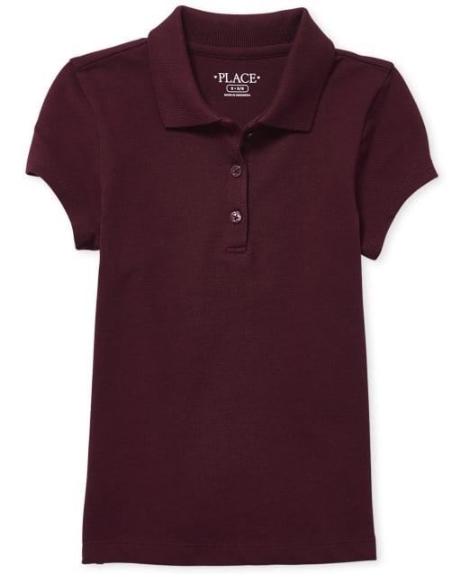 Girls Uniform Short Sleeve Pique Polo