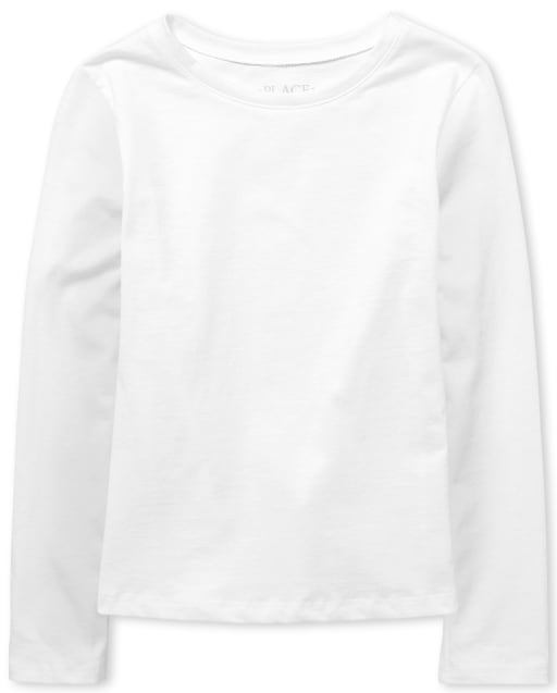 Girls Uniform Long Sleeve Basic Layering Tee