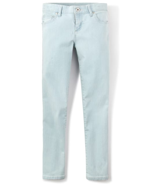 Girls Basic Skinny Jeans - Sky Wash