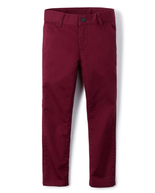 Boys Uniform Woven Skinny Chino Pants
