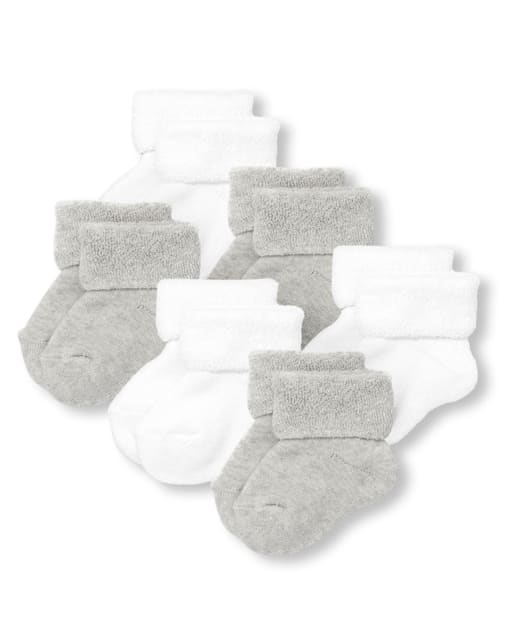 Unisex Baby Turn Cuff Socks 6-Pack