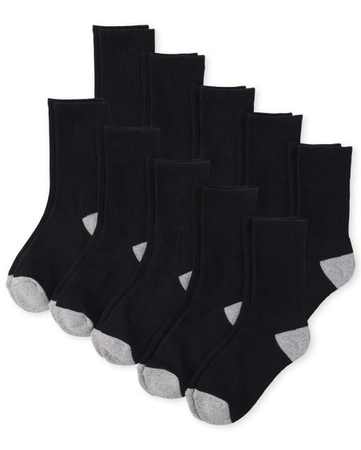 Boys Crew Socks 10-Pack