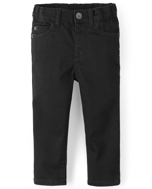 Baby And Toddler Boys Basic Skinny Stretch Jeans - Black Denim Wash