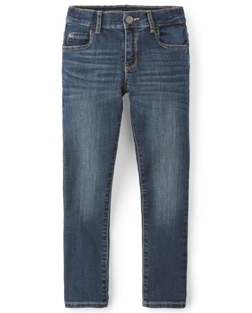 Boys Basic Skinny Stretch Jeans - Legend Wash