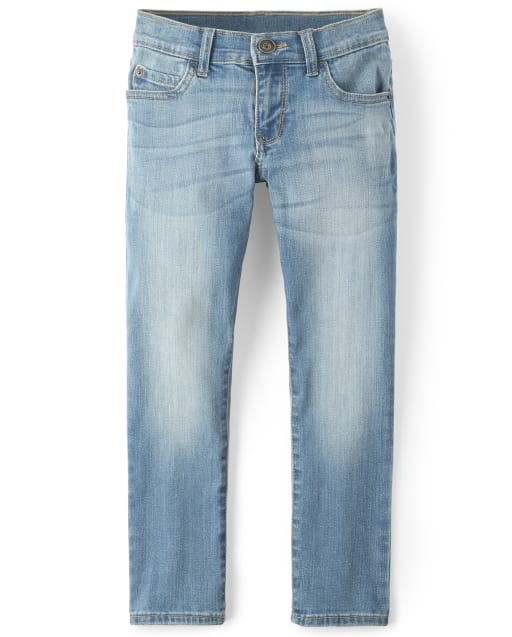 Boys Basic Straight Stretch Jeans - Drift Wash