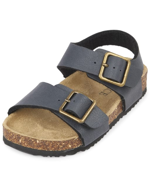 The Childrens Place Boys Double Buckle Sandal Flat,