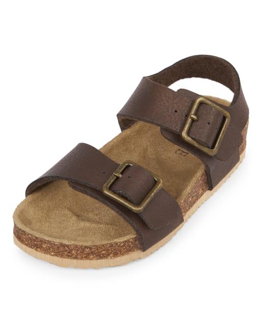 XM-Childrens shoes Non-Slip Boys Double Adjustable Strap Closed-Toe Leather Sandals Color : Black333 , Size : 5 M US Big Kid Toddler//Little Kid//Big Durable